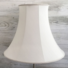Bowed Empire Lampshade White